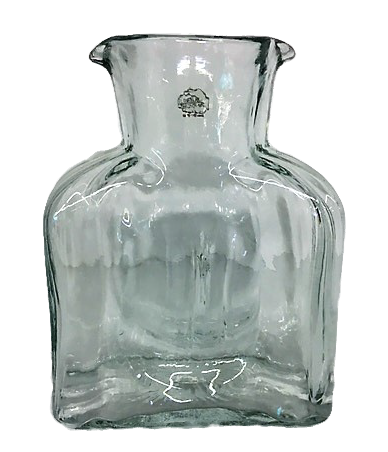 Blenko Glass Co   Water Bottle Straight Optic Crystal BG-005 $69.00