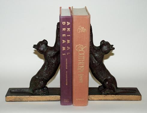 Dessau   Brz/Iron Cat Bookends pr DES-172 $95.00