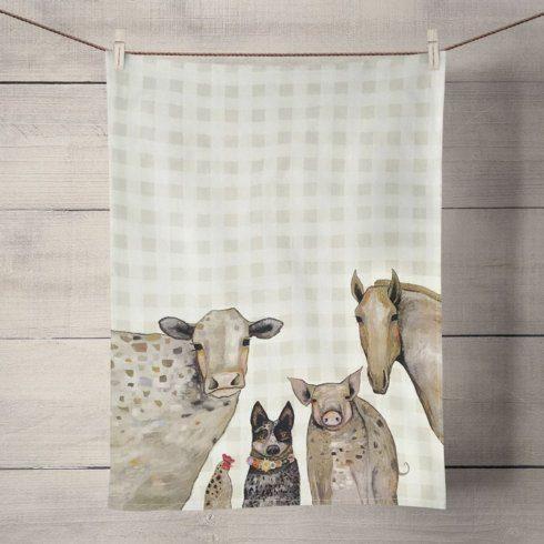 Babcock Exclusives  Greenbox Art Cattle Dog & Crew Tea Towel GBA-004 $14.00