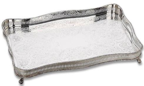 Babcock Exclusives  Reed & Barton Gallery Rectangular Clawfoot Tray RB-203 $525.00