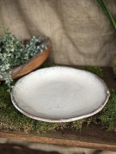 Etta B Pottery  Dinnerware - Farmhouse Pearl Round Salad EBP-732 $39.00