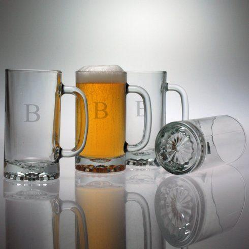 Susquehanna Glass   Beer Mug 16oz 3 Letter Classic set/4 SQG-041 $60.00
