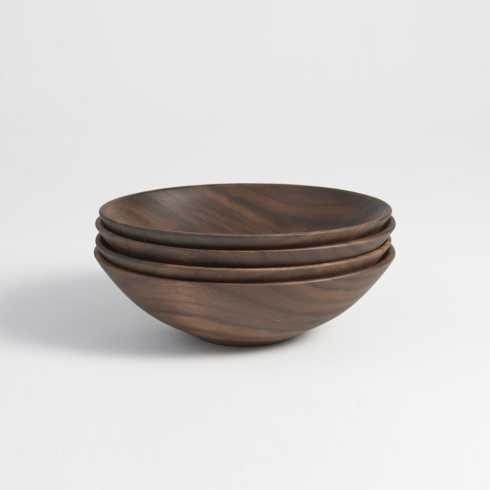 "$150.00 Black Walnut 7"" Champlain Bowls 4 Pack ADP-023"