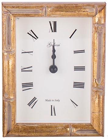 F.G. Galassi   Gold Bamboo Clock 4x4 FGH-236 $47.00