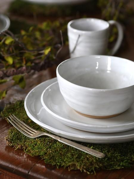 Etta B Pottery  Dinnerware - Townhouse Simply White Salad EBP-762 $39.00