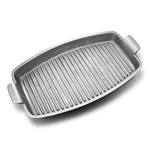 Wilton Armetale  Gourmet Grillware 18.25x9 Rectangular Grill Pan w/Handles WLT-234 $77.00