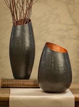 "$64.00 9.5"" Bronze Copper Vase/DES-163"