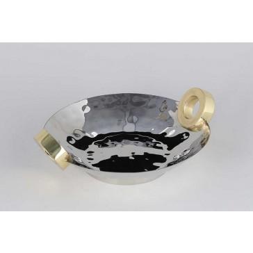 Dessau   Nickel/Gold Oval Centerpiece Ring DES-174 $206.00