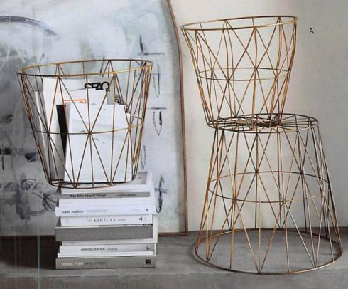 Roost   Med Brass Diamond Wire Basket RST-225 $56.50
