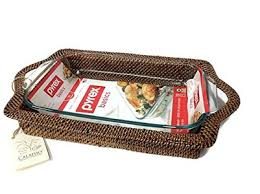 Calaisio   3 Qt. Rectangular Holder w/Pyrex CAL-107 $92.50