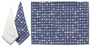 Karen Lee Ballard   Droplet Blue Embroidered Napkin KLB-011 $25.50