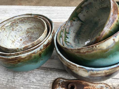 Etta B Pottery   Large Mixing Bowl Assorted EBP-328 $101.00
