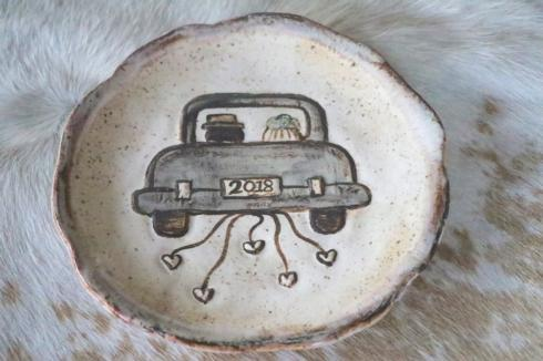 Etta B Pottery   Just Married Plate 2018 EBP-333 $47.00