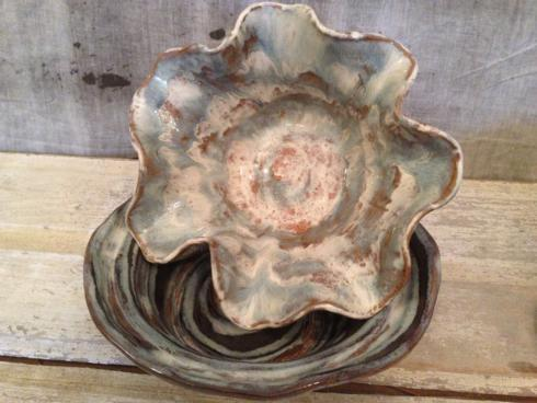 "Etta B Pottery  Serving Pieces 11"" Wave Bowl Assorted EBP-002 $72.00"