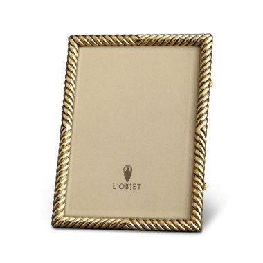 L'Objet   5x7 Deco Twist Gold Frame LO-181 $185.00
