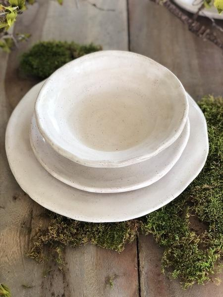 Etta B Pottery  Dinnerware - Farmhouse Simply White Salad EBP-822 $39.00