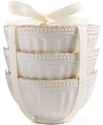 Lenox  French Perle Groove White Mini Bowls, Set of 3 LEC-218 $15.00