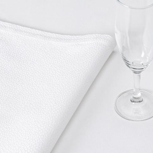 Le Jacquard Francais   Galuchat White Napkin LJ-140 $17.00