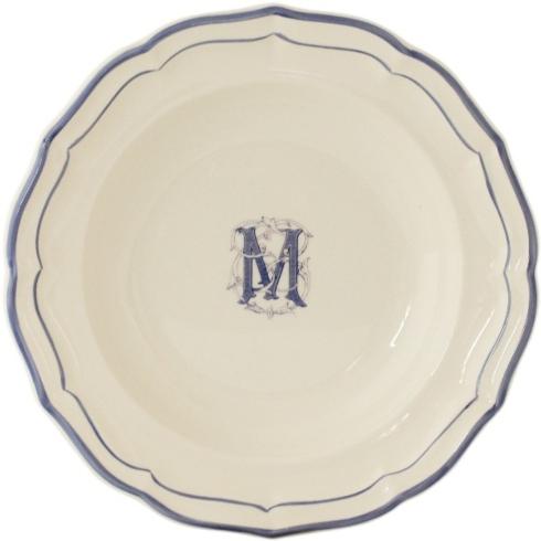 Babcock Exclusives  Gien Filet Bleu Monogram Dinner GIN-131 $55.00
