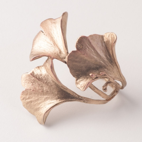 Michael Michaud Table Art   Ginkgo Antique Bronze Napkin Rings set/4 TAR-118 $75.00