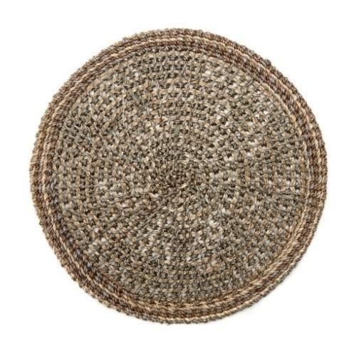 $29.00 Grey Crochet Abaca Mat DRH-195