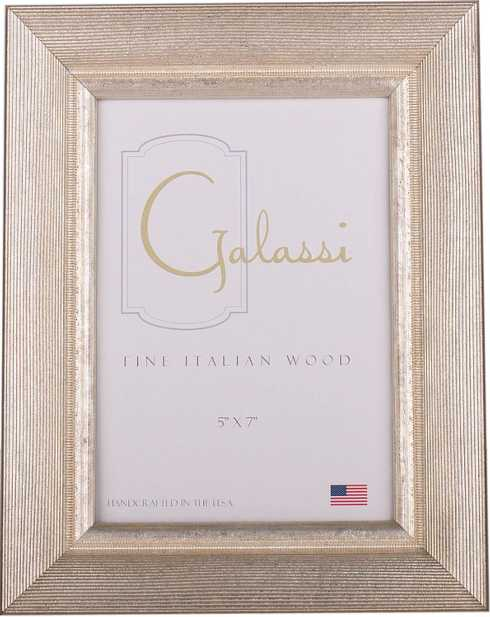 F.G. Galassi   5x7 Silver Groove Frame FGG-026 $65.00
