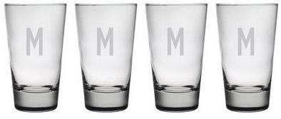 Susquehanna Glass   Hiball 1 Letter Dot set/4 SQG-183 $60.00