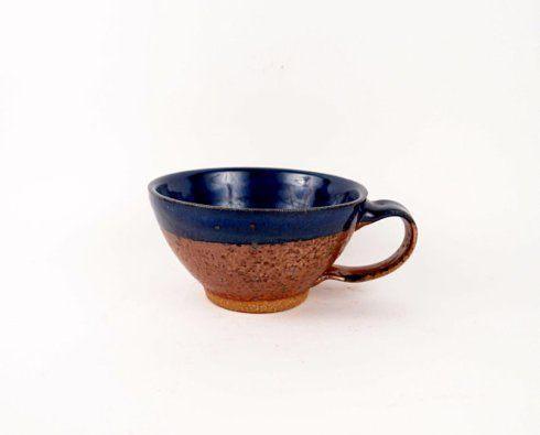 Babcock Exclusives  Kerry Brooks Pottery Blue/Copper Soup Mug KER-005 $26.00