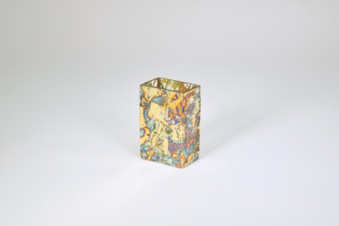 Tamara Childs   Short Rectangular Vase Variegated Blue Assorted TCH-155 $35.50
