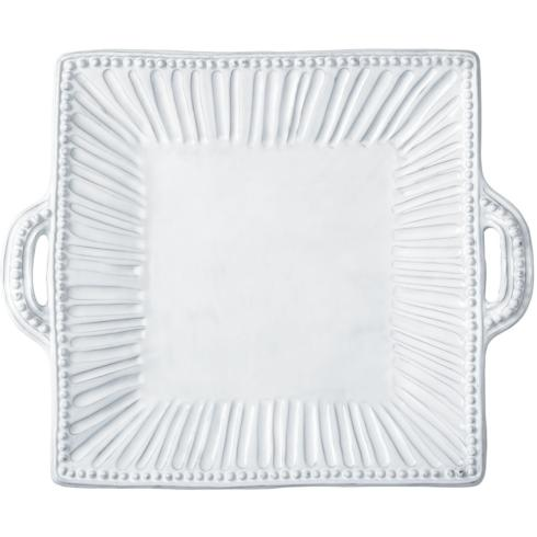 Vietri   Incanto Stripe Sq Handle Platter $156.00