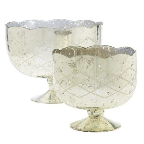 Accent Decor   Indi Silver Compote 11x9 ACD-065 $82.00