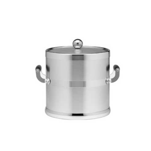Kraftware   3 Qt. Brushed Chrome Ice Bucket Side Handles K-156 $79.00