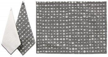 Karen Lee Ballard   Droplet Chrome Embroidered Napkin KLB-013 $25.50
