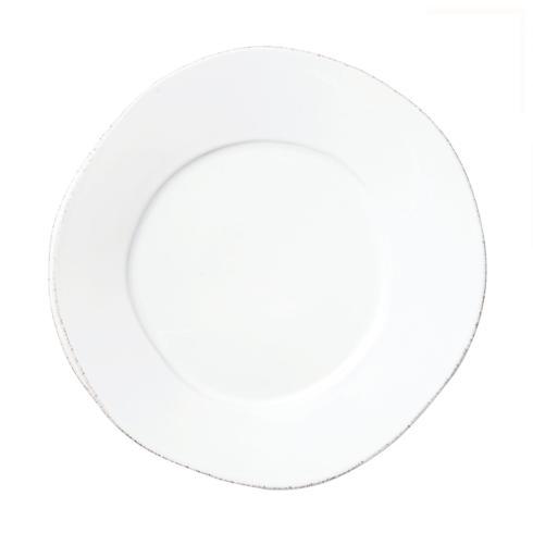 """Lastra White 10.5"""" dinner plate/VIY-160"""