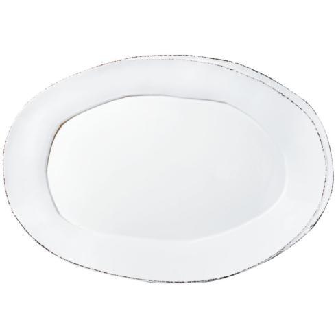 Lastra White Oval Platter VIY-172
