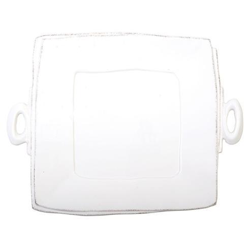 Lastra White Handled Sq Platter/VIY-182
