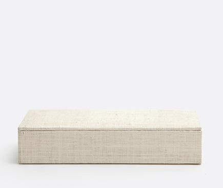 $79.00 Bayan Natural Raffia Large Accent Box PGP-045