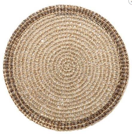 $29.00 Natural Crochet Abaca Mat DRH-187
