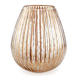 """$16.50 6"""" Ribbed Glass Luminary NAP-417"""