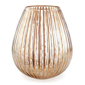 "$16.50 6"" Ribbed Glass Luminary NAP-417"