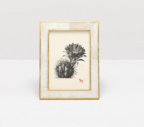 Pigeon & Poodle   Bari Clamstone w/Brass 5x7 Frame PGP-021 $210.00