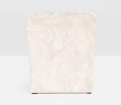 $210.00 Rolo Pearl Rectangular Wastebasket PGP-229
