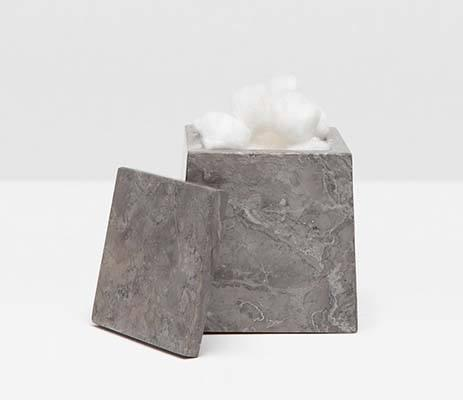 Pigeon & Poodle   Veneto Gray Square Canister PGP-211 $73.00