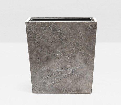Pigeon & Poodle   Veneto Gray Rectangular Wastebasket PGP-218 $275.00