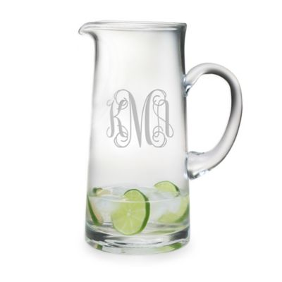 Susquehanna Glass   Tankard Pitcher 3 Letter Interlock SQG-060 $60.00
