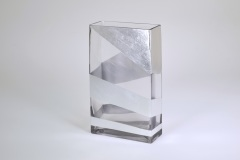 "$88.00 10"" Rectangular Silver Roadz Vase TCH-212"
