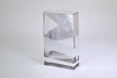 "$88.00 10"" Rectangular Silver Roadz Vase TCH-212"