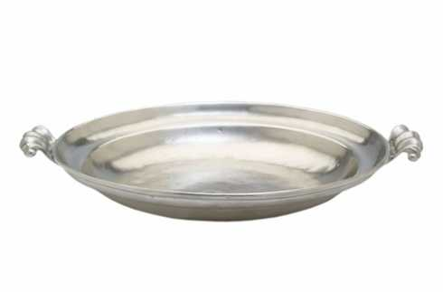$267.00 Round Low Bowl w/Scroll Handles MTH-511