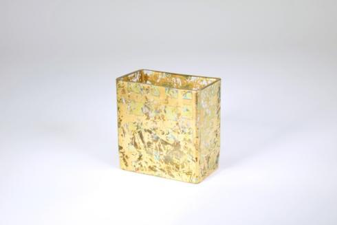 """Tamara Childs   4"""" gold wabi sabi vase TCH-208 $35.50"""