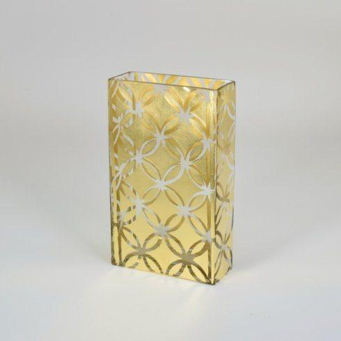 """$88.00 10"""" Tall Vase Gold Assorted TCH-121"""
